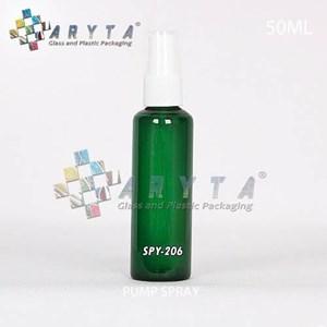 Botol kaca hijau 50ml tutup spray (SPY206)