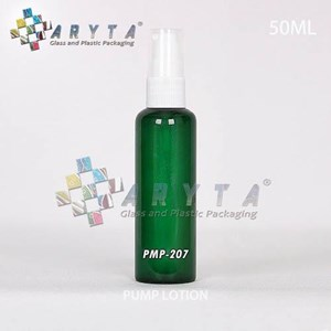 Botol kaca hijau 50ml tutup pump (PMP207)