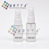 Botol kaca mossa bening 18ml tutup pump lotion (PMP165)