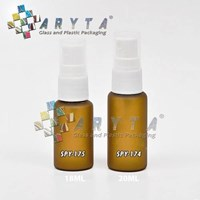 Botol kaca mossa coklat 18ml tutup spray (SPY175)