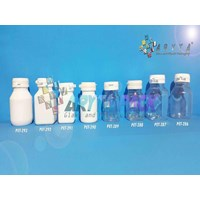 Botol plastik PET 60 kapsul tablet kotak bening (PET287)