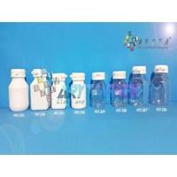 Botol plastik PET 30 kapsul tablet kotak bening (PET288)