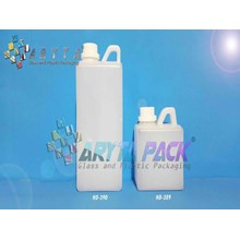 Jerigen plastik hdpe 1 liter kotak natural (HD390)