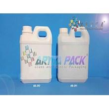 Jerigen plastik hdpe 1 liter taiwan putih susu (HD392)