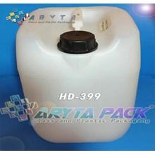 Jerigen plastik hdpe 20 liter type B natural (HD39