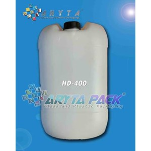 HD400. Hdpe plastic Jerry cans 30 liter box natural