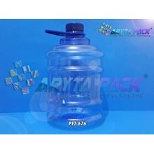 Galon plastik biru PET 2 liter tutup ulir segel (PET676)