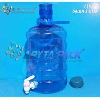 Galon plastik pet 5 liter biru + keran (PET294)