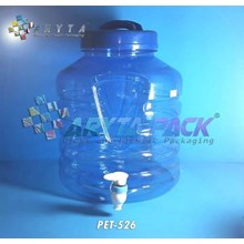 Galon plastik pet 10 liter biru A + keran (PET526)