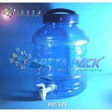 Galon plastik pet 10 liter biru B + keran (PET525)