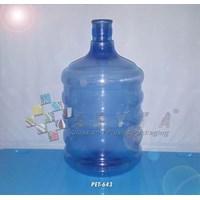 Galon plastik pet 11 liter biru tutup dop (PET643)