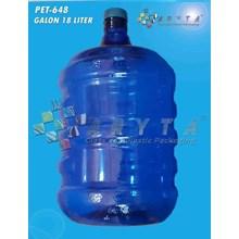 Galon plastik pet 18 liter biru tutup dop (PET648)