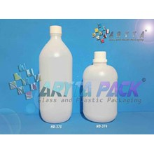 Botol plastik HDPE 1 liter gold G natural (HD374)
