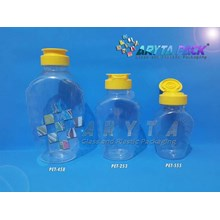 Botol plastik PET 400ml madu TJ tutup flip top (PET458)