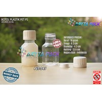 Botol plastik PET 50ml PS tutup segel (PET245)
