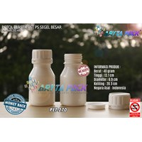 Botol plastik PET 250ml PS putih susu tutup segel (PET270)