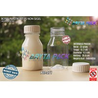 Botol plastik PET 250ml PS tutup non segel (PET271)