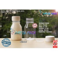 Botol plastik PET 250ml PS tutup segel kecil (PET641)