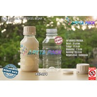 Botol plastik PET 500ml PS natural tutup segel (PET274)