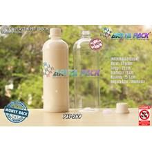 Botol plastik PET 1 liter labor tutup segel putih  (PET269)