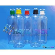 Botol plastik PET 1 liter labor tutup segel (PET269)