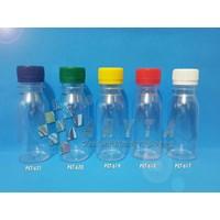 PET617. Botol plastik PET 80ml zam-zam tutup segel putih