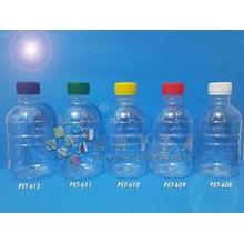 Botol plastik PET 250ml Granat tutup segel putih (PET608)