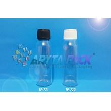 TP720. Botol kaca bening telon 25ml tutup putih pl