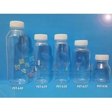 Botol plastik minuman 100ml essen tutup natural se