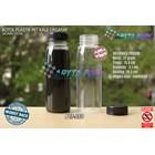 Botol plastik minuman 250ml jus organik tutup hitam segel (PET550) 1