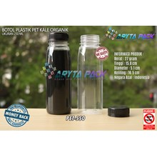 PET550. Plastic bottle 250 ml organic juice drink