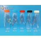 PET551. Plastic bottle 250 ml organic juice drink red lid seal  1