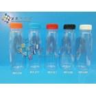 Botol plastik minuman 250ml jus organik tutup biru segel (PET577) 1