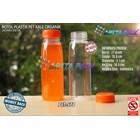 Botol plastik minuman 250ml jus organik tutup orange segel (PET578) 1