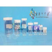 PVC414. Botol plastik PVC 100ml pot plastik