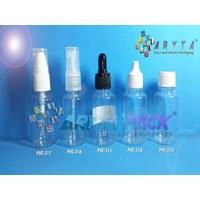 Botol plastik PVC 30ml tutup spray (PVC516)
