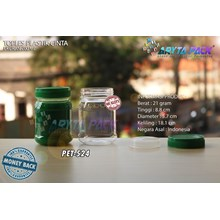 200ml PET plastic jar love jam green lid (PET524)