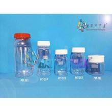 PET282. Toples plastik PET 200ml selai bulat