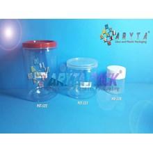 PET521. Jar jar 250 ml PET plastic clear fox