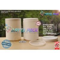 1 liter vim straight HDPE plastic jars (HD388) 1