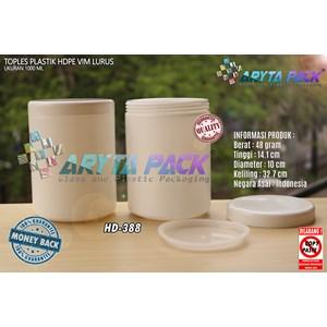 1 liter vim straight HDPE plastic jars (HD388)