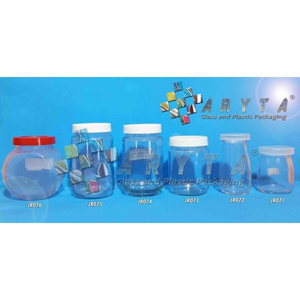 JR073. Glass jar 230ml plastic cap (New)