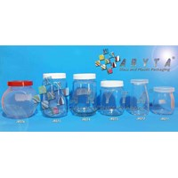 Jar kaca 330ml tutup plastik (Second) (JR074)
