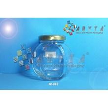 Jar kaca 200ml belimbing tutup kaleng emas (New) (JR083)
