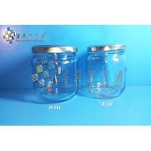 Jar kaca 230ml bulat tutup kaleng silver (New) (JR532)