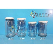Jar kaca 370ml tutup kaleng putih (Second) (JR404)