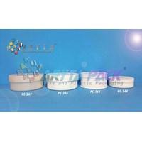 Pot cream botol kosmetik 200 gram sekar jagad besar putih (PC346)