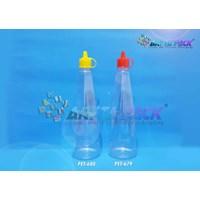 Botol plastik kecap 300ml tutup fliptop kuning (PET680) 1