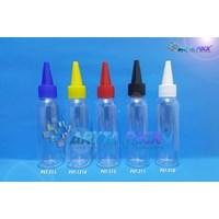 Botol plastik PET 100ml Lena tutup tinta putih (PET210) 1