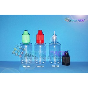 Botol plastik PET 30ml liquid tutup childproff merah (PET453)